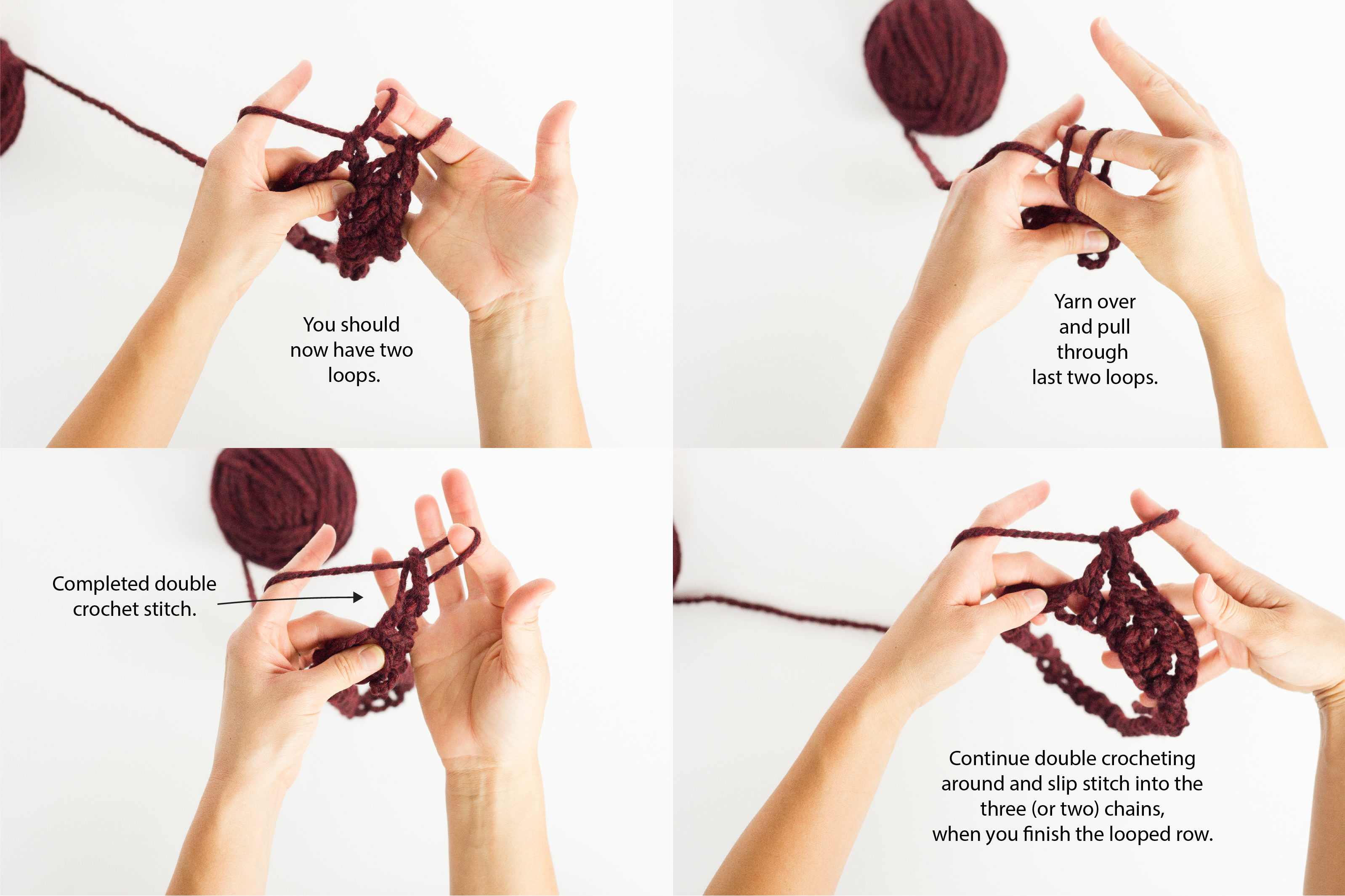 Finger Crocheted Cowl Tutorial Pattern