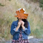 Denim Jacket and Fall Floral Dress
