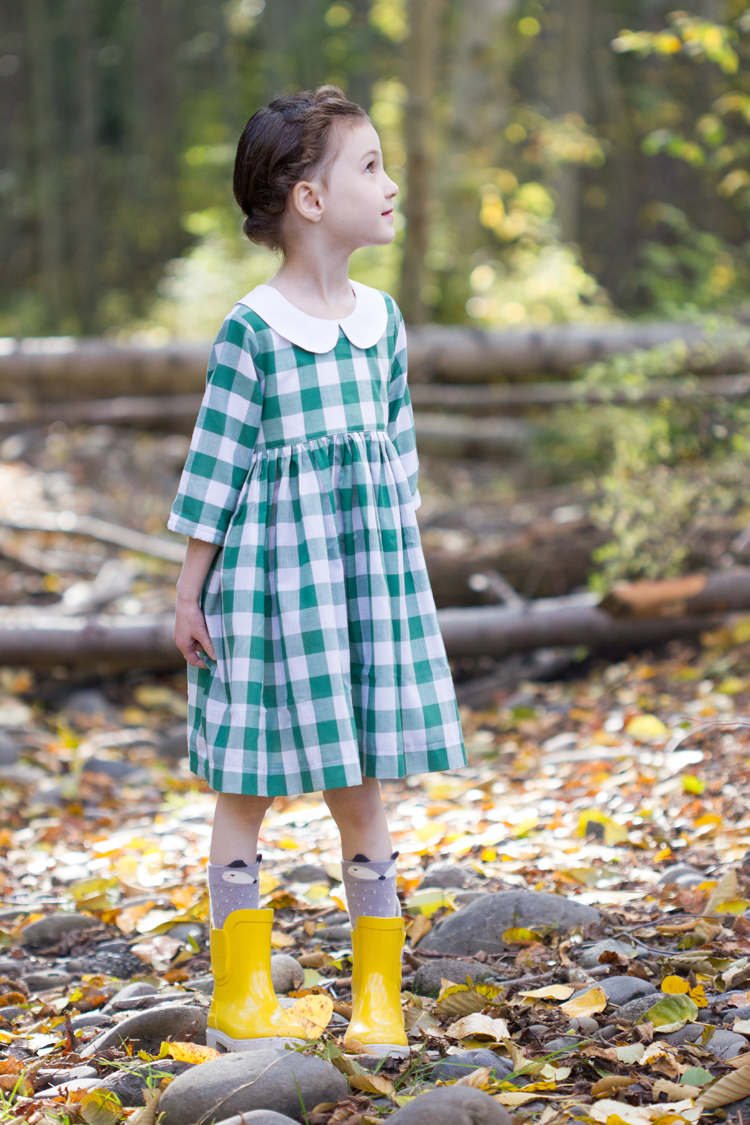 Green Gingham Geranium // www.deliacreates.com