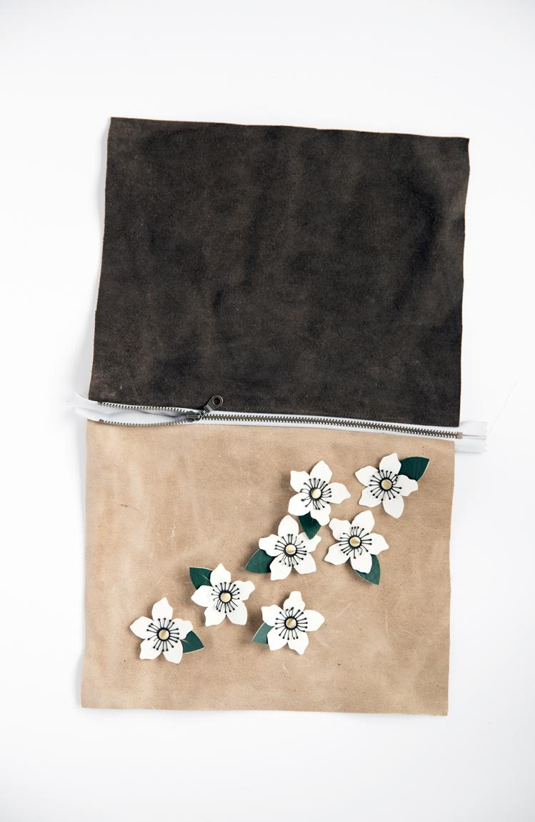 Leather Anemone Clutch - Tutorial + Free Cut Files // www.deliacreates.com