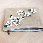 Leather Anemone Clutch – Tutorial + Free Cut Files