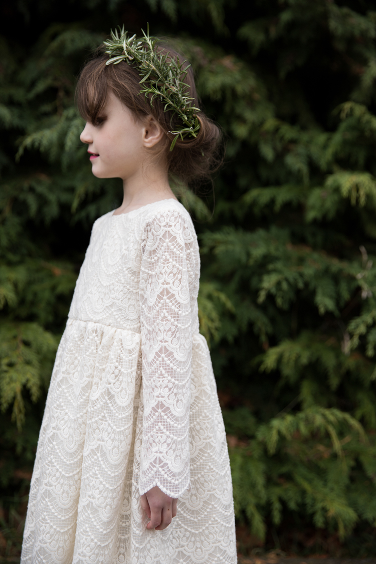 Lace Geranium Holiday Dress