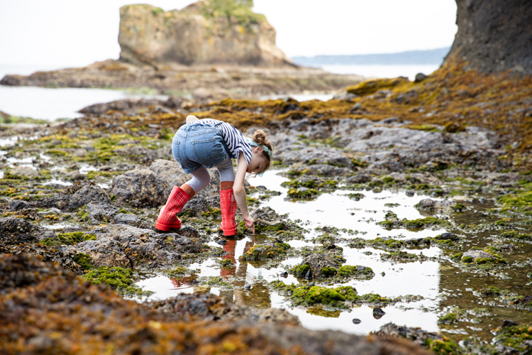 Tide Pools, London Littles, + Red Galoshes // www.deliacreates.com
