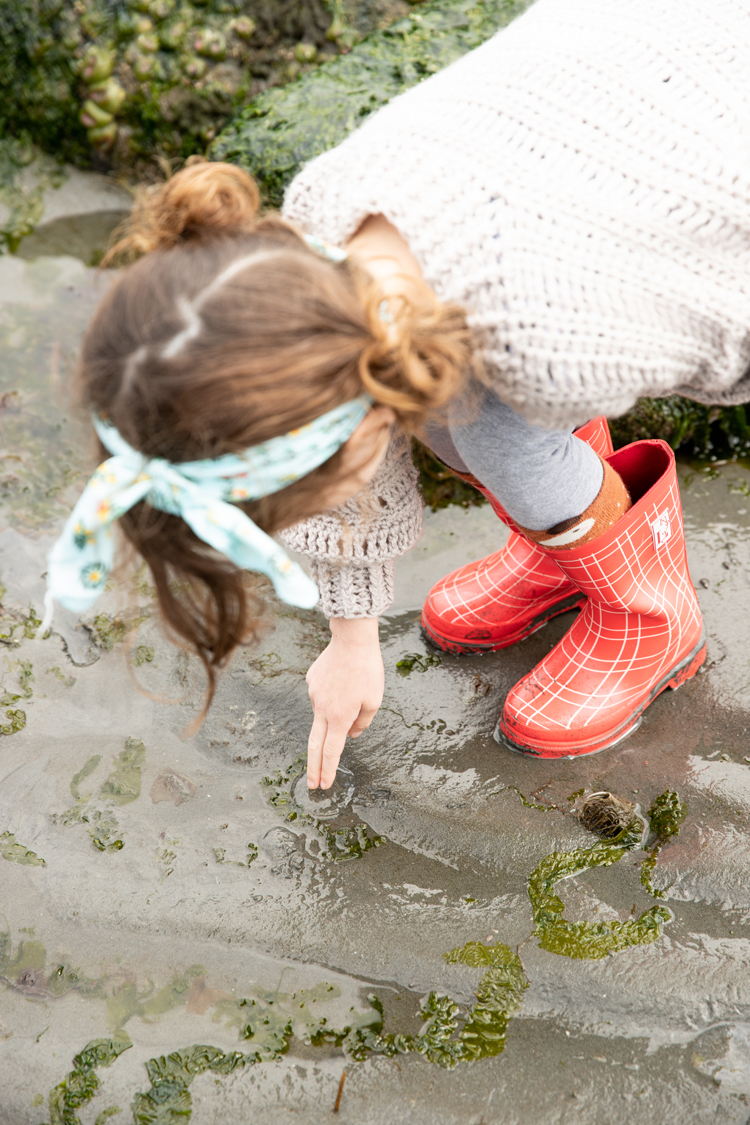 Tide Pool Trip, London Littles, + Red Galoshes // www.deliacreates.com