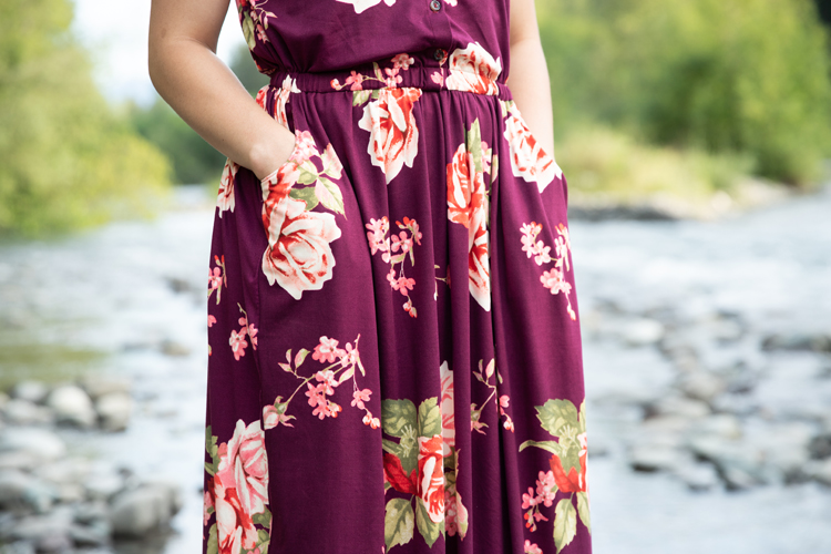 Maxi Length Catalina Sundress in THE Softest Knit Fabric // www.deliacreates.com