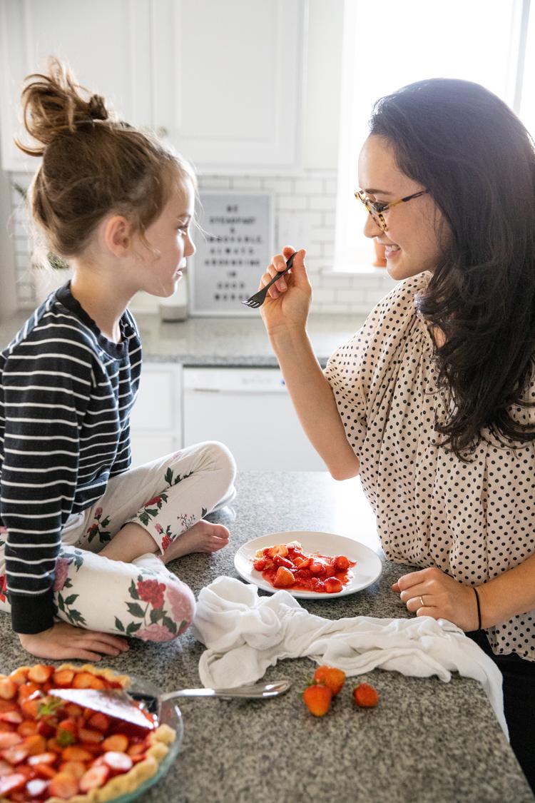 Dairy Free Strawberry Pie + Coconut Oil Pie Crust Recipe // www.deliacreates.com