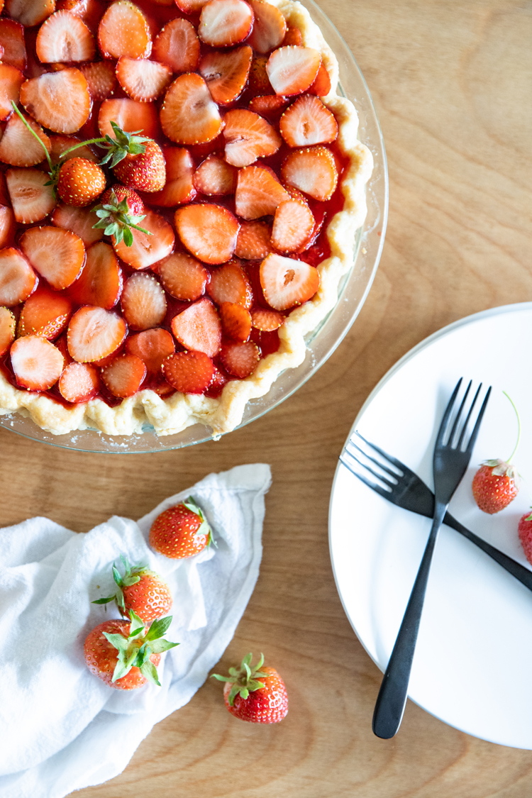 Dairy Free Strawberry Pie + Coconut Oil Pie Crust Recipe // www.deliacreates.com