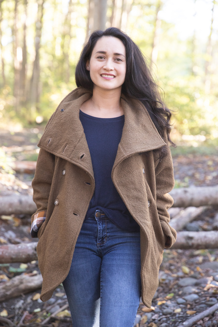 Fall Sewing: Yuzu Wool Coat and Linden Sweatshirt // deliacreates.com