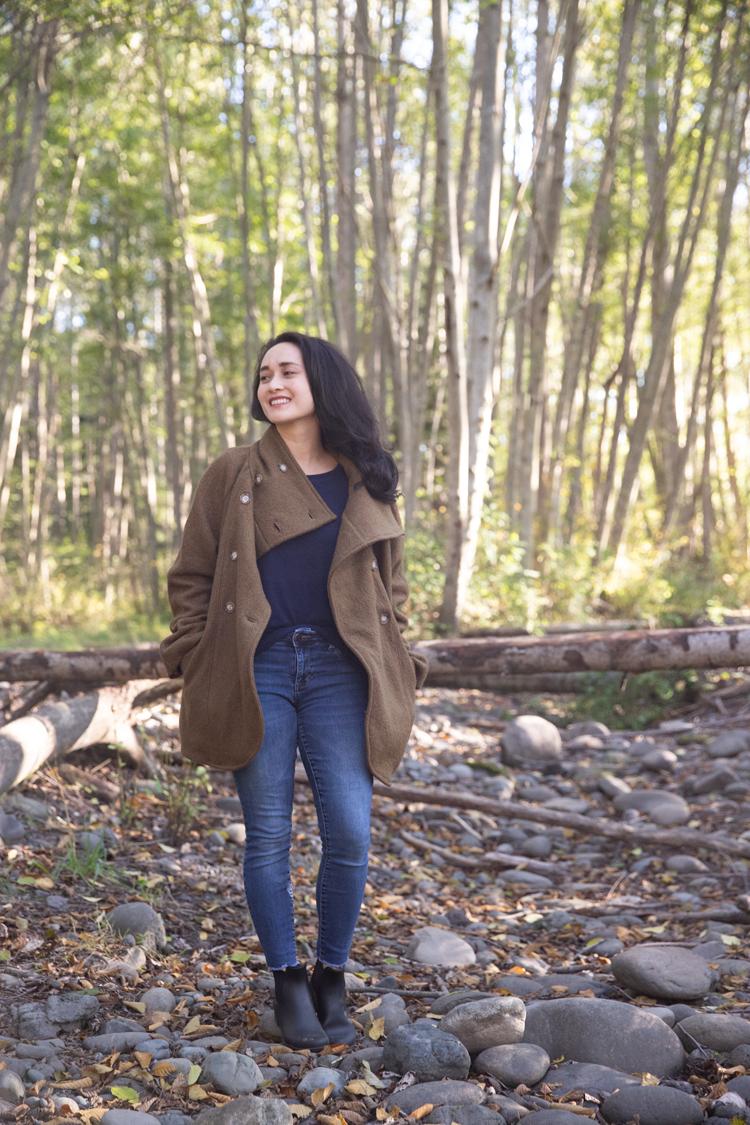 Fall Sewing: Yuzu Wool Coat and Linden Sweatshirt // deliacreates.com
