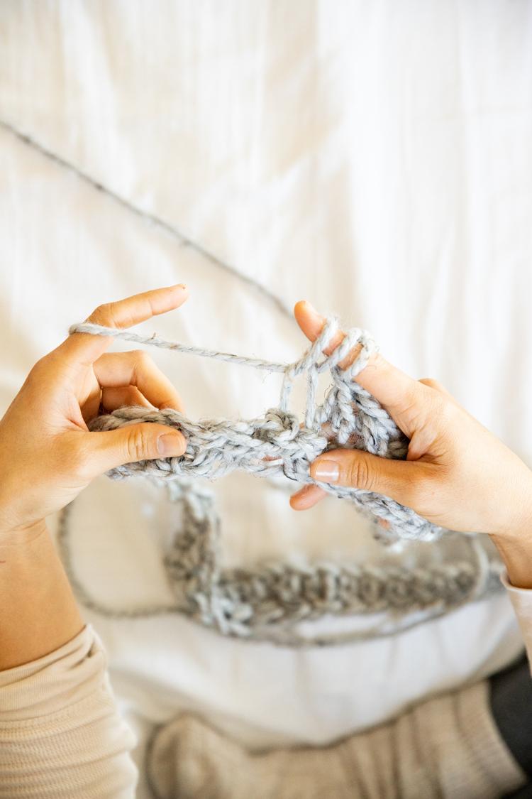 Zenni Glasses + Chunky Crocheted Infinity Scarf (free pattern) // www.deliacreates.com