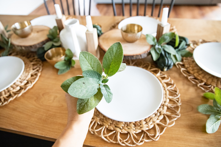 How To Make A Magical Table Setting Using What You Have On Hand // www.deliacreates.com