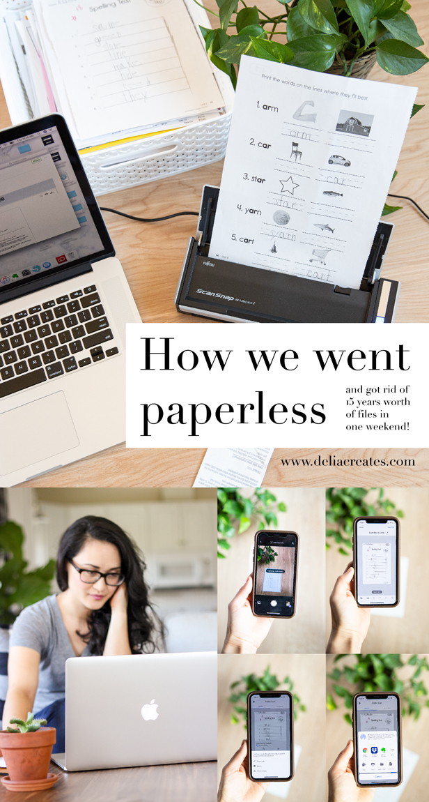 How to Go Paperless! ...how we got rid of 15 years worth of files in one weekend! // www.deliacreates.com // details on how to back up your files so they are EASY to find!