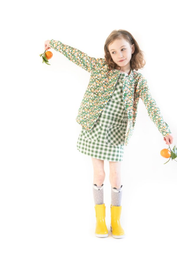 Caraway Cardigan & Project Farmer's Market // www.deliacreates.com // kids sewing pattern collection