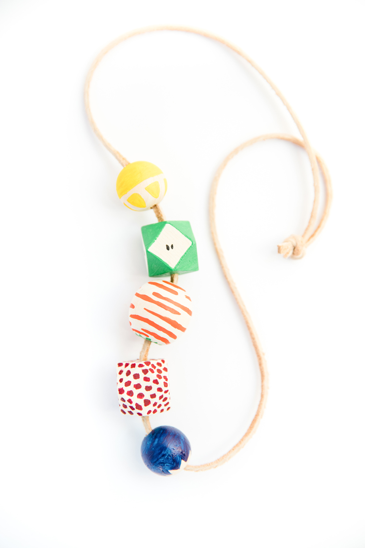 Fruit Bead Necklace DIY // www.deliacreates.com