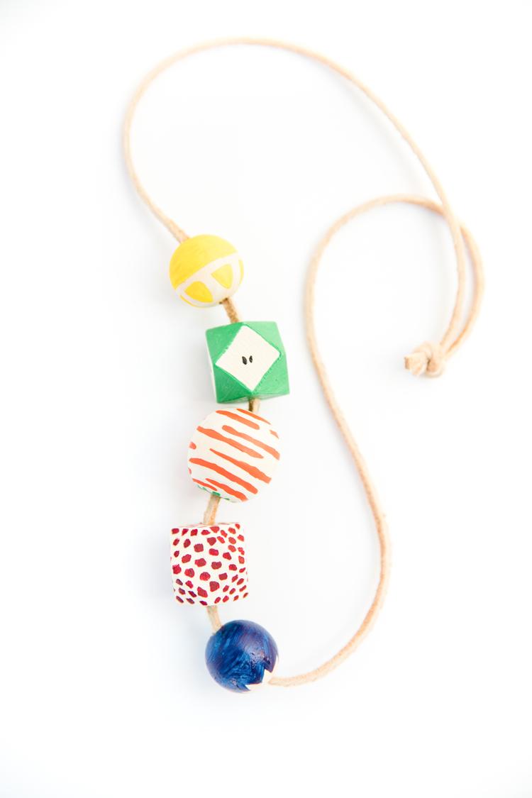 Fruit Bead Necklace DIY // www.deliacreates.com