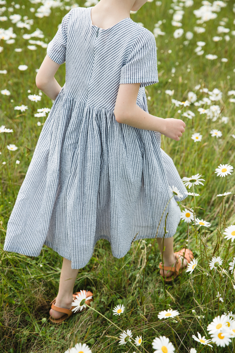 Mommy and Me Dresses in Daisy Fields // www.deliacreates.com // Jessica Dress + Geranium Dress sewing pattern reviews