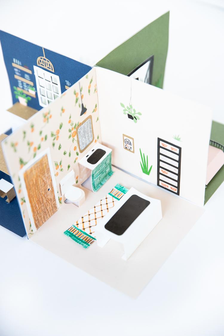 Pop Up Paper Doll House - Free .svg cut files! // www.deliacreates.com