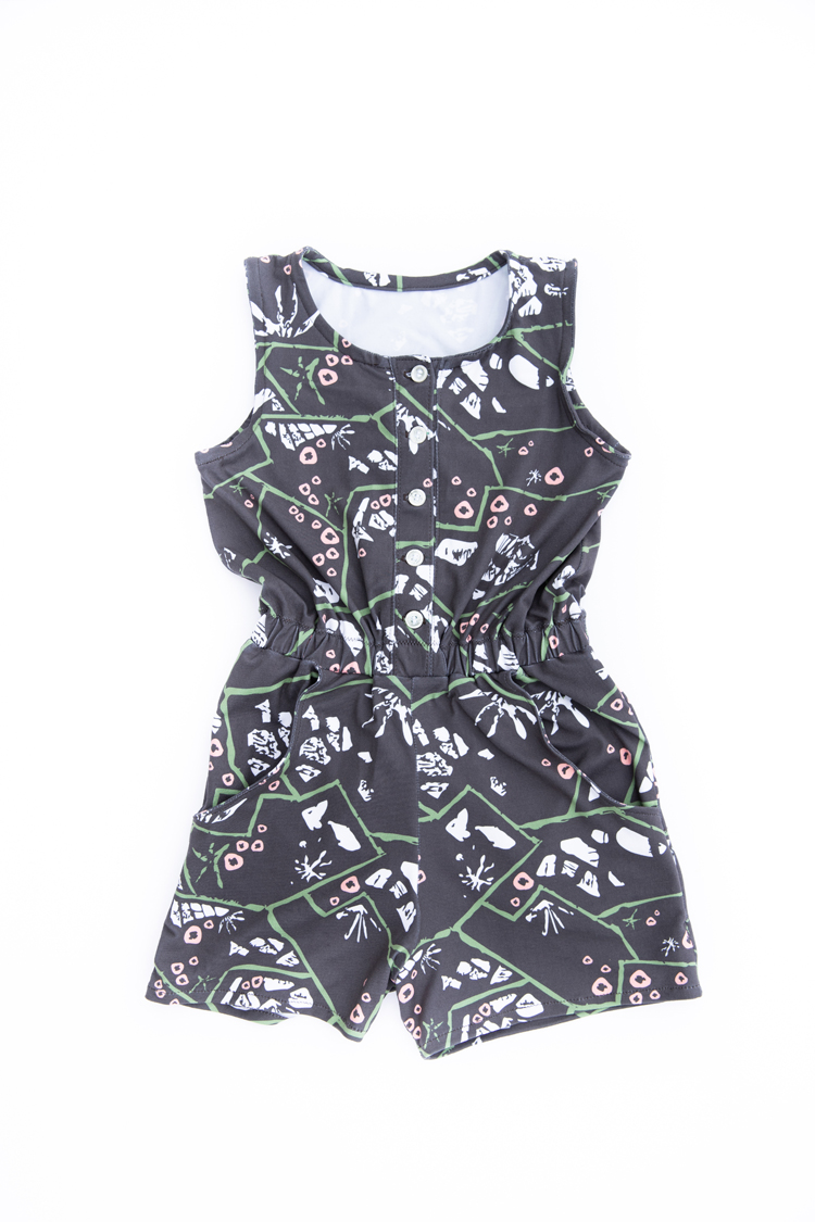 Project Nature Adventure Fabric Line: Tide Pools // www.deliacreates.com // Sunsuit Romper