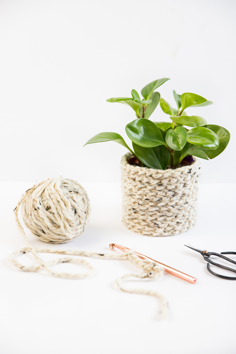 Crochet Basics - How to Chain Stitch + Plant Cozy Tutorial // www.deliacreates.com