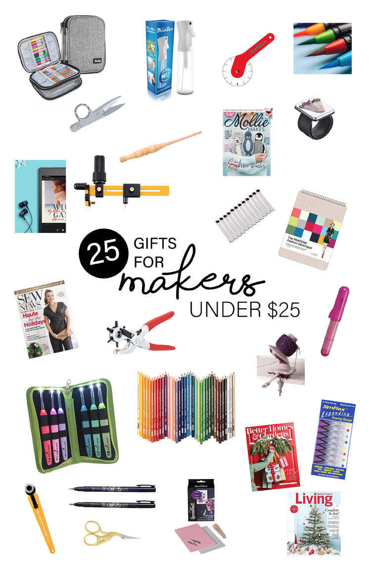25 Gifts for Makers under $25 // www.deliacreates.com