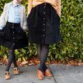 Mommy + Me Corduroy Skirts // www.deliacreates.com