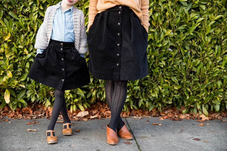 Mommy + Me Corduroy Skirts // www.deliacreates.com