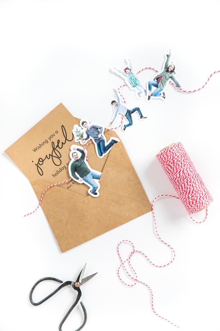 Paper Doll Family Christmas Card // www.deliacreates.com