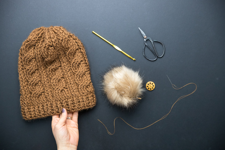 How to Add a Removable Fur Pom // www.deliacreates.com