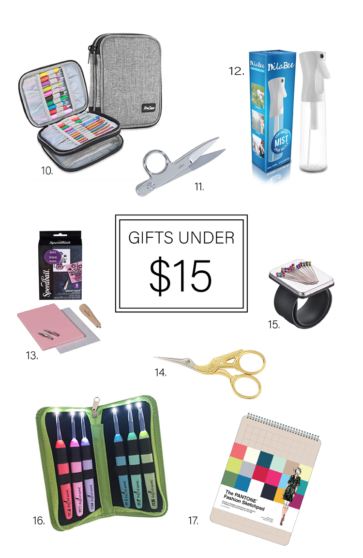 25 Gifts for Makers under $25 - gifts under $15 round up // www.deliacreates.com