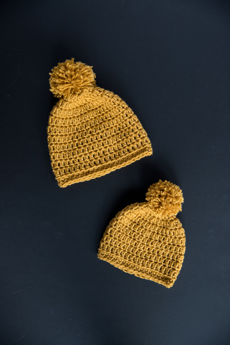 Free beanie pattern baby through adults// great video tutorials for ABSOLUTE beginners // www.deliacreates.com