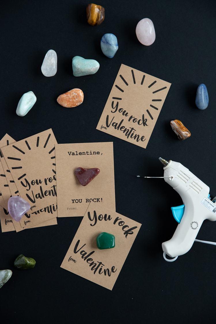 You Rock Valentine - FREE Printable! // www.deliacreates.com