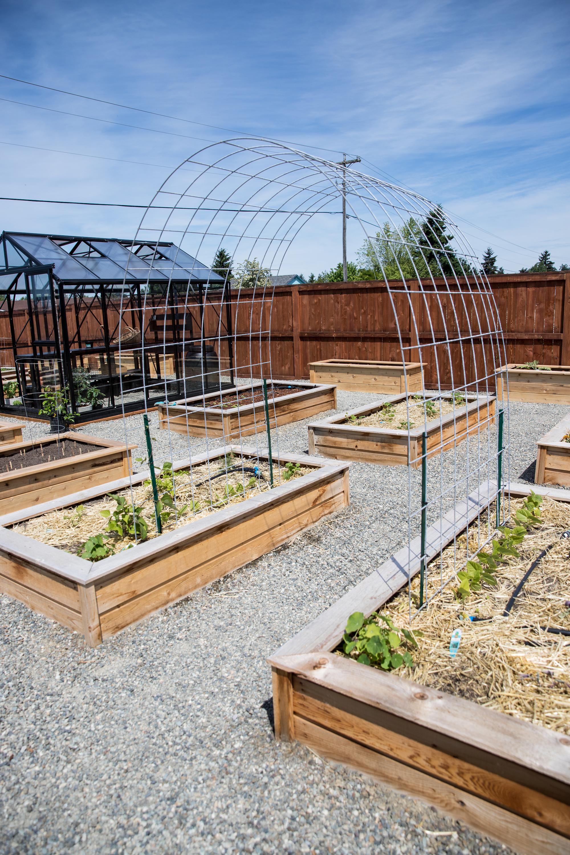 Raised Bed Garden Arch Trellis - Easy Step by step Tutorial // www.deliacreates.com