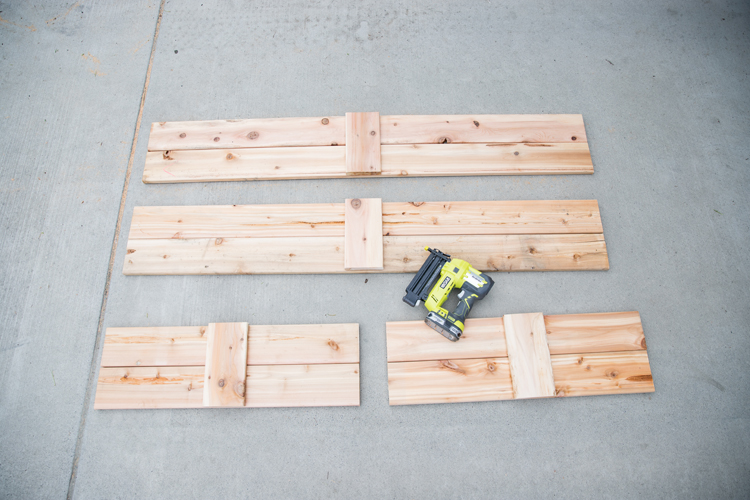 How To Make Cedar Raised Garden Beds // www.deliacreates.com// step by step tutorial with pictures