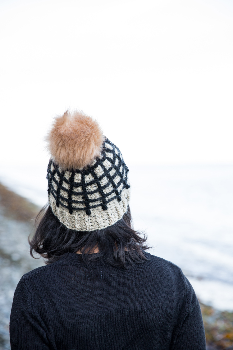 Window Pane Crochet Beanie - free pattern & video tutorial // www.deliacreates.com
