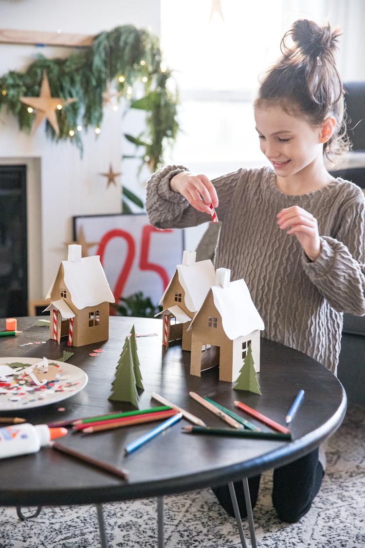 Paper Gingerbread House - free downloads! // www.deliacreates.com