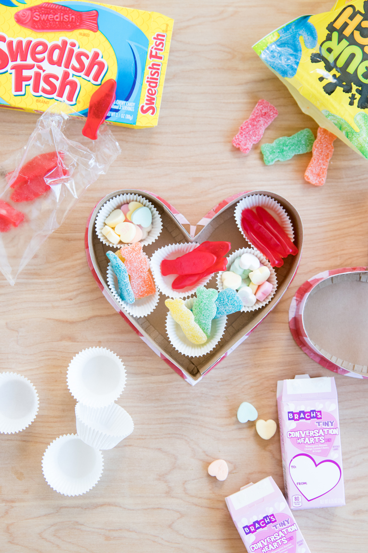Cereal Box to Candy Heart Box - free template // www.deliacreates.com