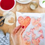 Homemade Beet Dyed Heart Chips