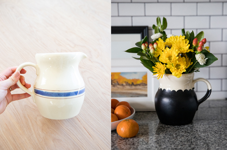 Painted Thrift Store Vases BEFORE & AFTER // www.deliacreates.com