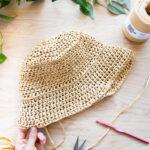 Raffia Crochet Bucket Hat – Free Pattern!